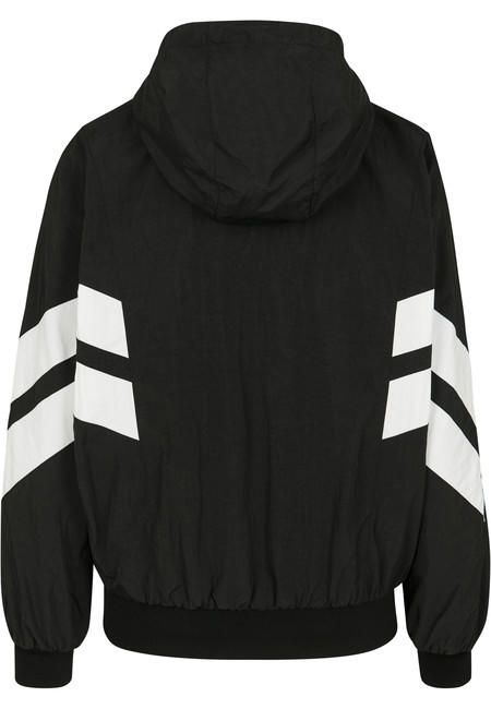Urban Classics Ladies Crinkle Batwing Jacket blk/wht
