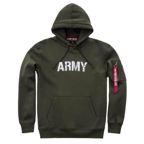 09ec9ad587 ... Pánská mikina Alpha Industries Army Nav Hoody Army Green ...