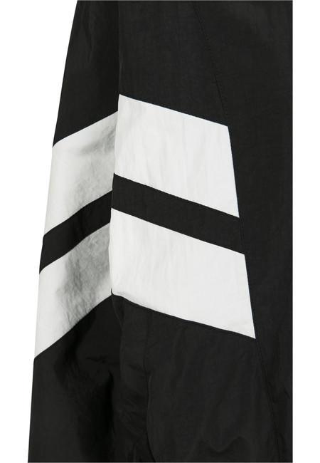 Urban Classics Ladies Crinkle Batwing Jacket blk/wht