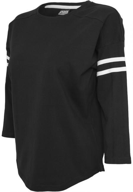 Urban Classics Ladies Sleeve Striped L/S Tee blk/wht