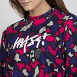 Mass Denim WMNS Sweatshirt Crewneck Signature Medium Logo purple camo