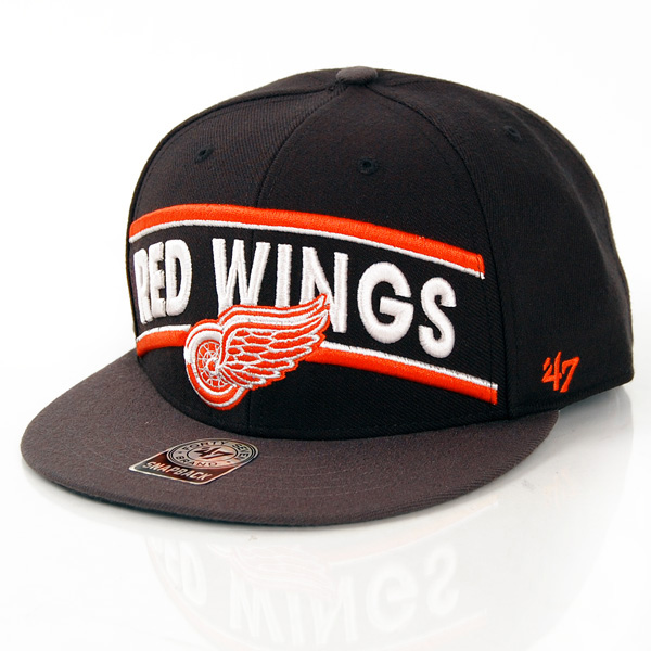 47 Brand Beacon Detroit Red Wings Snapback Black BEACN05WBP-BK - UNI