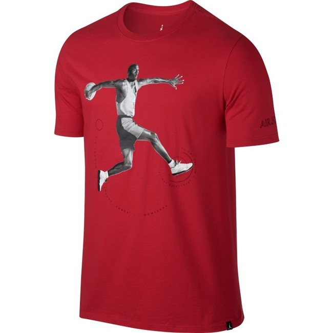 Air Jordan 5 T-shirt Red 864923-657 - L