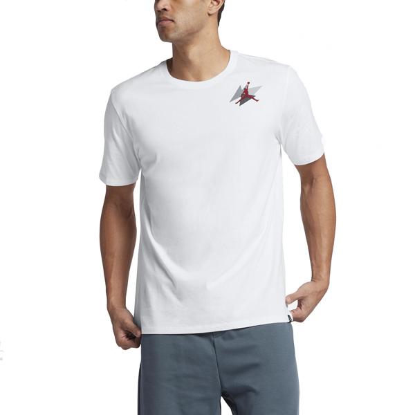Pánské tričko Air Jordan Box T-shirt White Gym Red - L