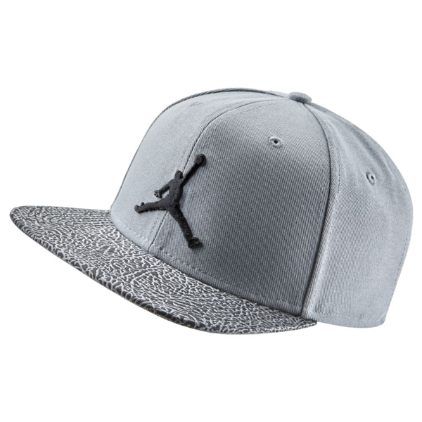 Kšiltovka Air Jordan Elephant Bill Snapback Cool Grey Black - UNI