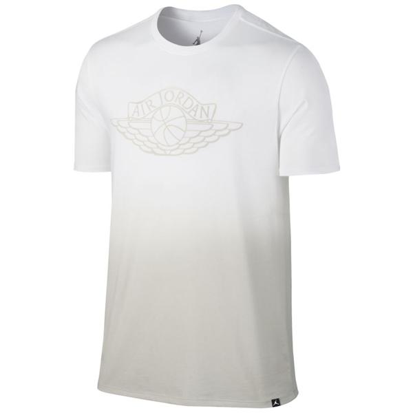 Pánské tričko Air Jordan Fadeaway Faded T-Shirt White Light Bone - M