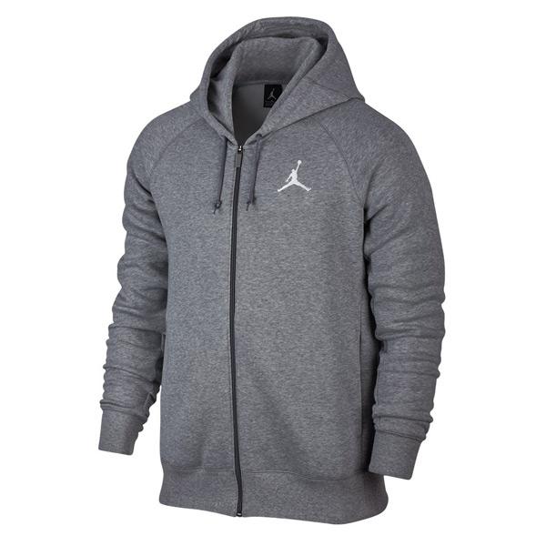 Mikina Air Jordan Flight Fleece Full-Zip Hoodie Carbon Heather Grey - M