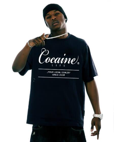 Panské tričko Cocaine Life Basic Large Logo Tee Black