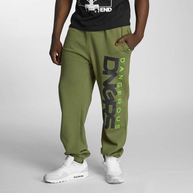 Pánské tepláky Dangerous DNGRS Classic Sweatpants Khaki - 5XL
