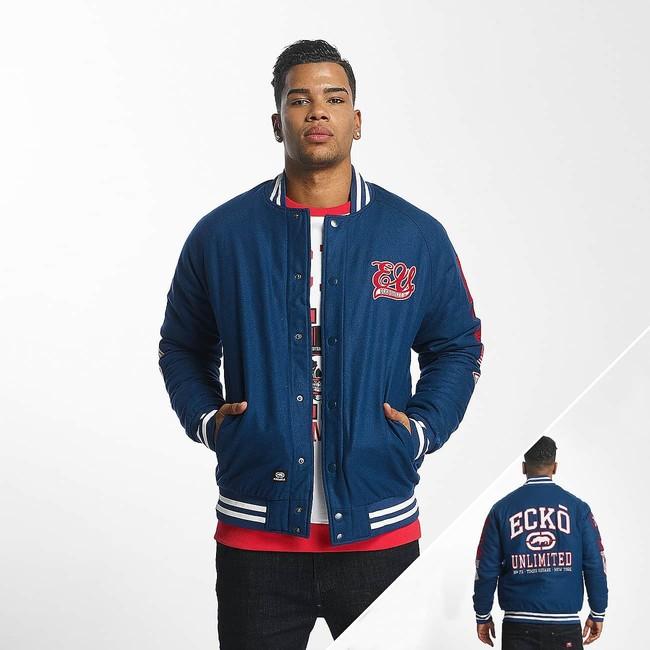 Ecko Unltd. / College Jacket Big Logo in blue - M