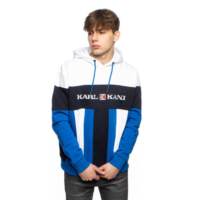 Levně Karl Kani Sweatshirt Retro Block Hoodie blue