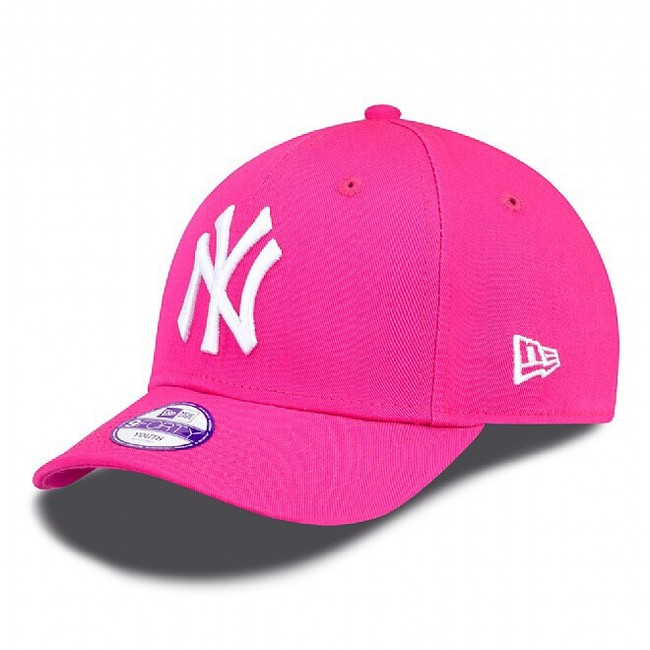 DĚTSKÁ NEW ERA 9FORTY YOUTH MLB LEAGUE BASIC NEW YORK YANKEES PINK WHITE