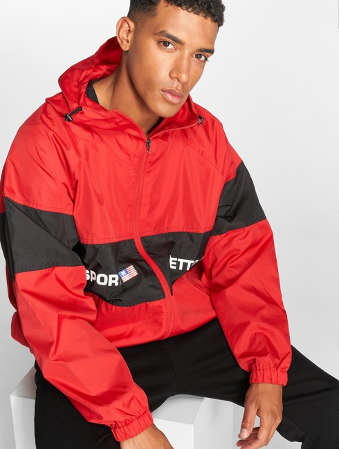 maskulin lightweight jacket ghetto in red online hip hop fashion store. Black Bedroom Furniture Sets. Home Design Ideas