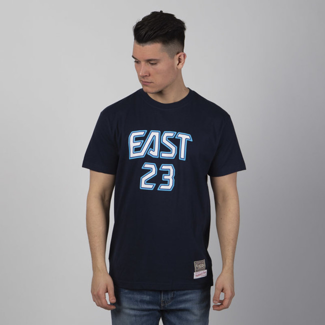 Mitchell & Ness All Star East #23 Lebron James T-shirt navy NBA Name & Number Tee