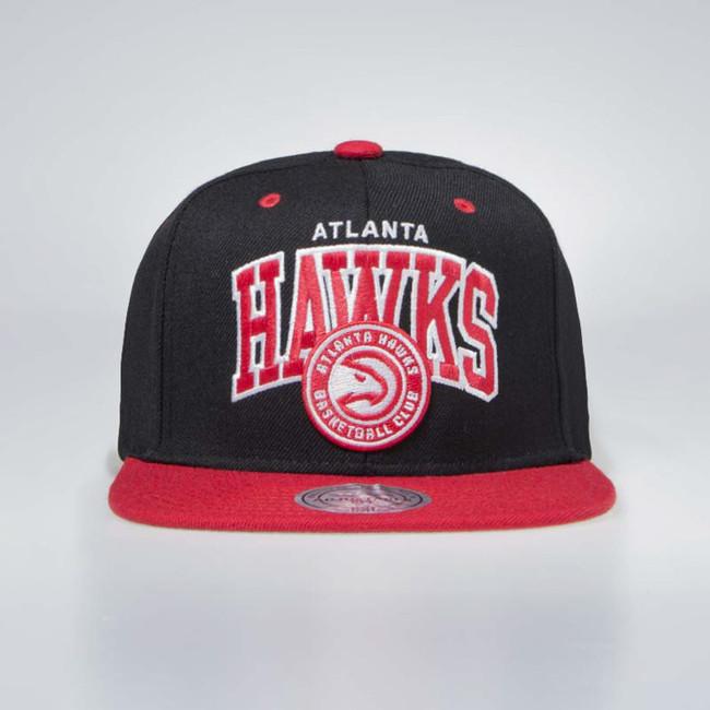 Mitchell & Ness Atlanta Hawks Snapback Cap black / red Team Arch - UNI