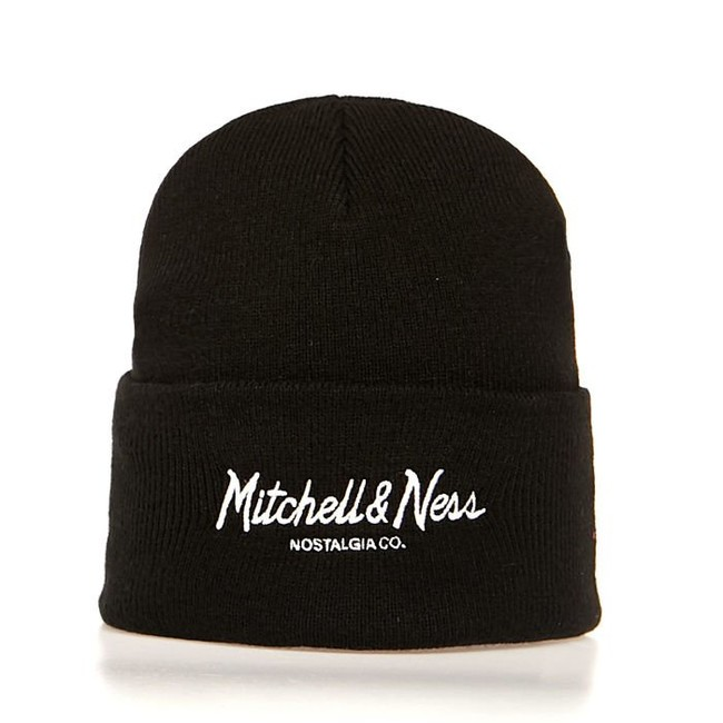Levně Mitchell & Ness Beanie Own Brand black Pinscript Cuff Knit