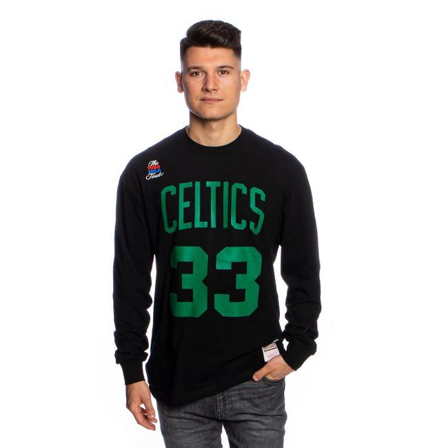 Mitchell & Ness Longsleeve Boston Celtics black Number Print LS Tee