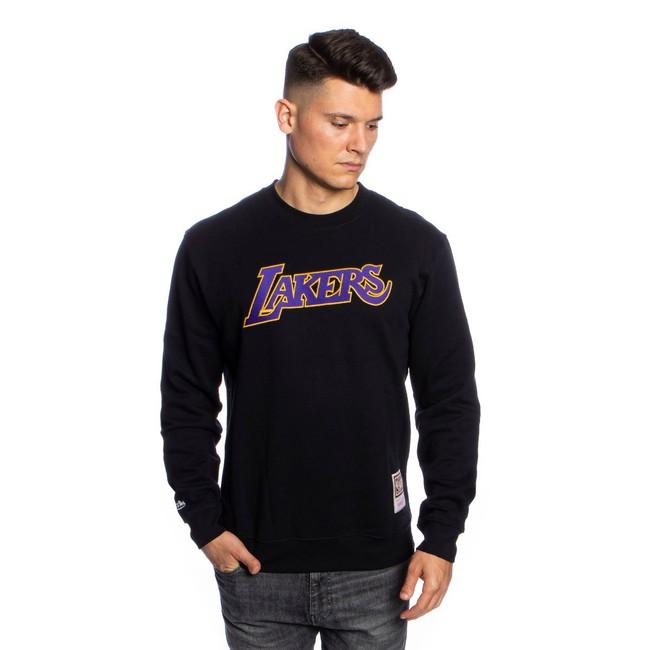 Mitchell & Ness sweatshirt Los Angeles Lakers black Embroidered Logo Crew