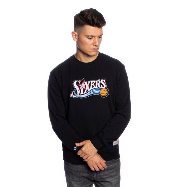 Mitchell & Ness sweatshirt Philadelphia 76ers black Embroidered Logo Crew