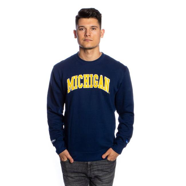 Mitchell & Ness sweatshirt University Of Michigan navy NCAA Arch Crew