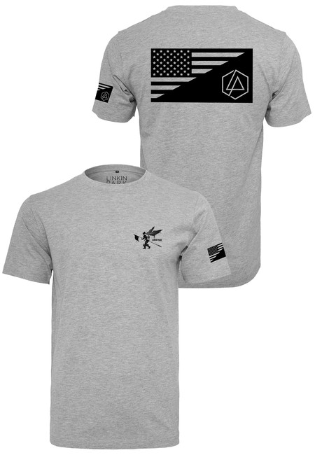 Mr. Tee Linkin Park Flag Tee heather grey - XS Mr. Tee