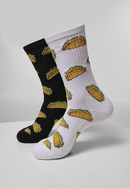 Levně Mr. Tee Taco Socks 2-Pack white/black