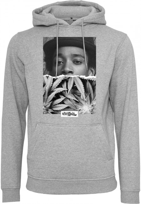 Mr. Tee Wiz Khalifa Half Face Hoody h.grey - S