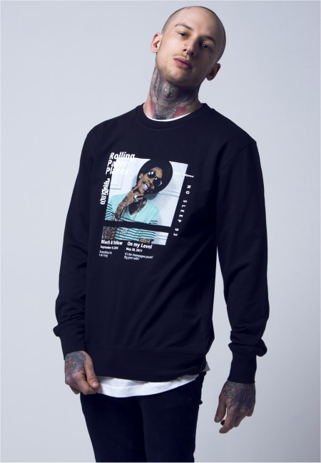 Mr. Tee Wiz Khalifa Rolling Paper Planes Crewneck black - S