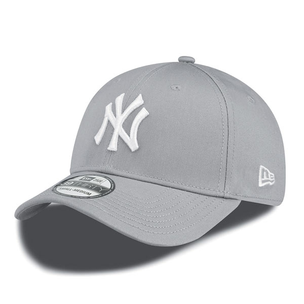 New Era 39thirty MLB League Basic NY Yankees Grey White