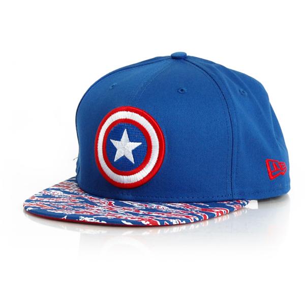 New Era 9Fifty Hero Tigercam Captain America - S–M