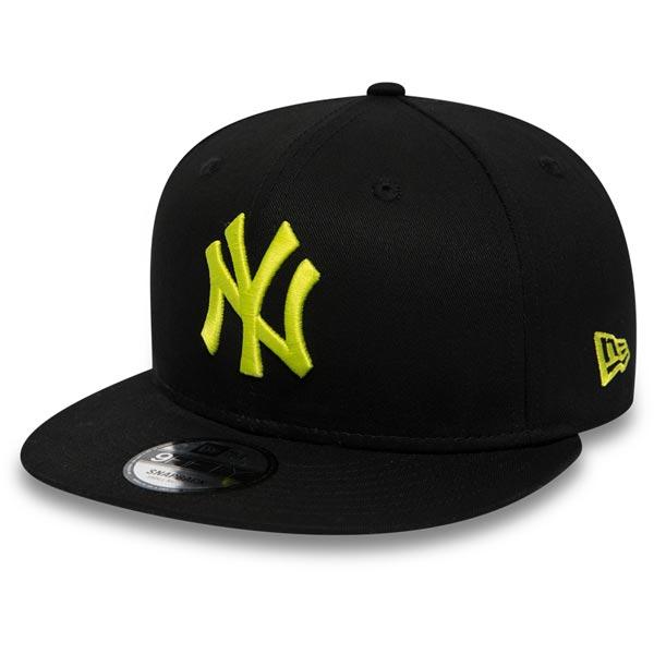 Kšiltovka New Era 9Fifty MLB League Essential Snapback NY Yankees Black Cyber Green
