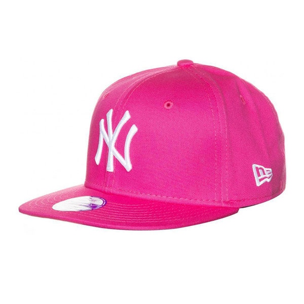 DĚTSKÁ NEW ERA 9FIFTY YOUTH MLB BASIC NEW YORK YANKEES CAP PINK WHITE - UNI