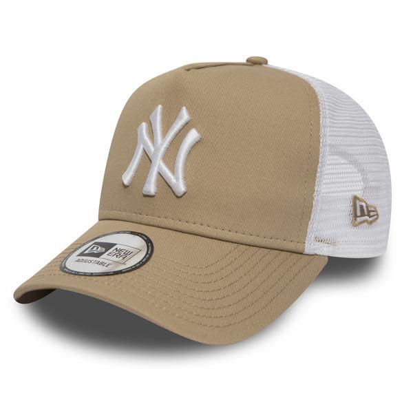 Kšiltovka New Era 9Forty A Frame Trucker Essential NY Yankees Camel