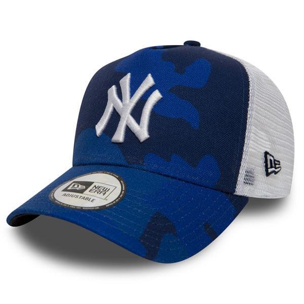 Kšiltovka New Era 9Forty A Frame Trucker MLB Camo NY Yankees Blue