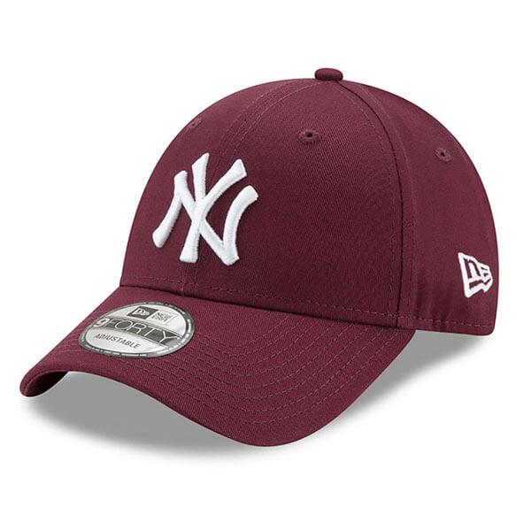 Kšiltovka New Era 9Forty Essential Cap NY Yankees Maroon - UNI 09e48729f4