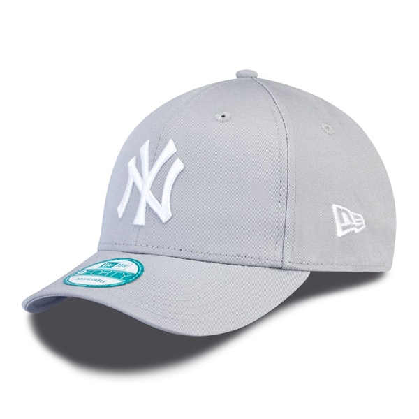 Kšiltovka New Era 9Forty MLB League Basic NY Yankees Grey White - UNI