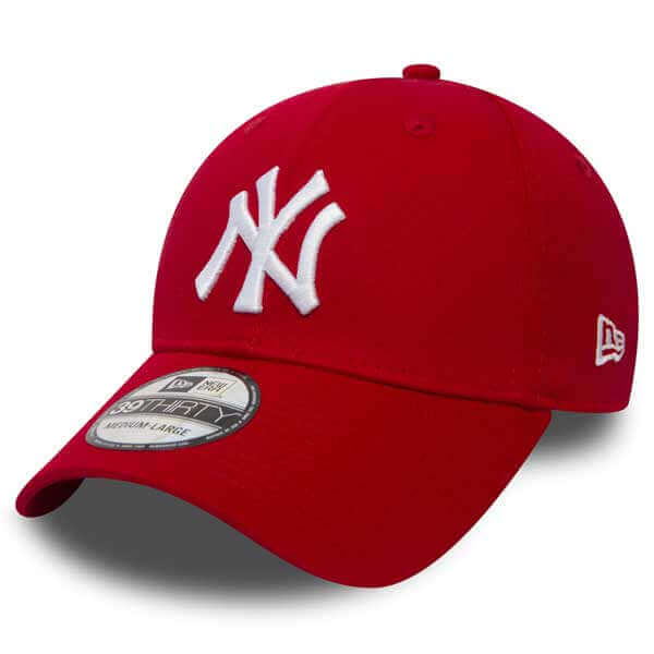 Kšiltovka New Era 9Forty MLB League Basic NY Yankees Scarlet White - UNI