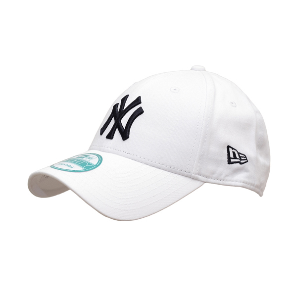 Kšiltovka New Era 9Forty MLB League Basic NY Yankees White Black - UNI
