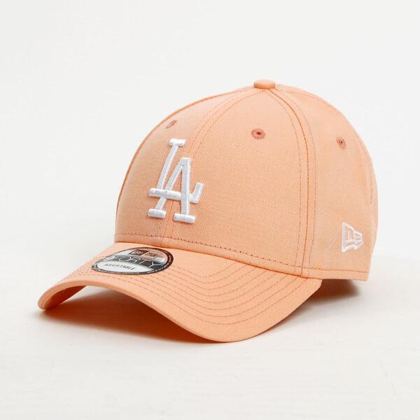 Kšiltovka New Era 9Forty MLB League Essential LA Dodgers Peach White