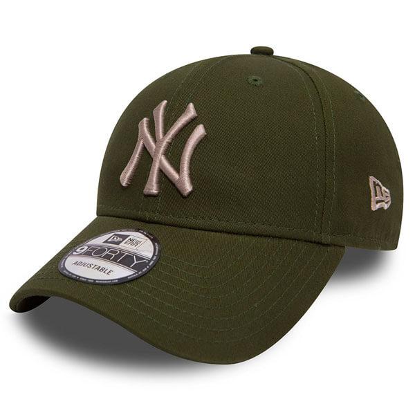 Kšiltovka New Era 9Forty MLB League Essential NY Yankees Rifle Green - UNI