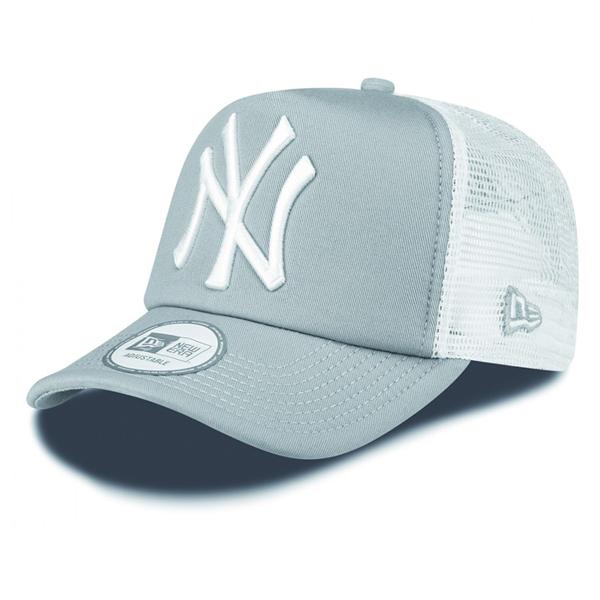 New Era 9Forty Trucker Clean T NY Grey White Cap - UNI b8ad0af7c2