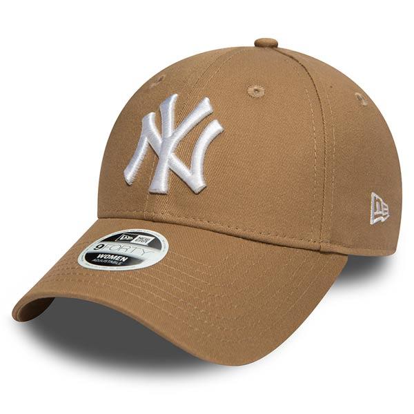 Dámská kšiltovka New Era 9Forty Womens Essential NY Yankees Khaki White