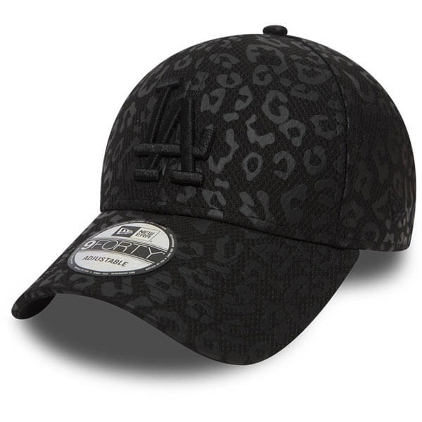Dámská kšiltovka New Era 9Forty Womens MLB Leopard LA Dodgers Black
