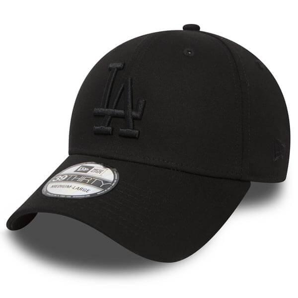 Kšiltovka New Era 39Thirty MLB League Essential LA Dodgers Black Black