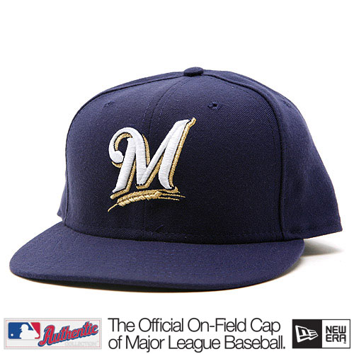 New Era Authentic Milwaukee Brewers Home - 7 1/8