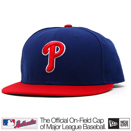New Era Authentic Philadelphia Phillies Home Alternate Cap Red Blue - 7 1/8