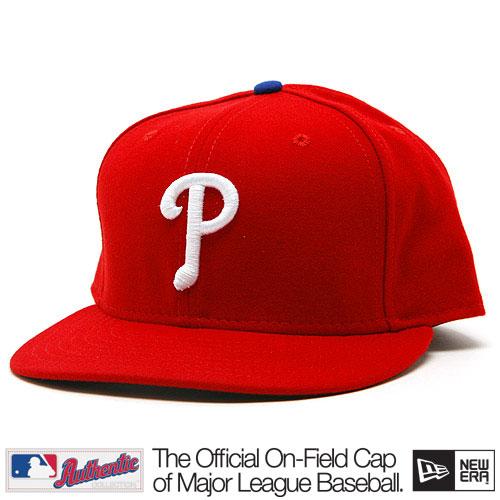 New Era Authentic Philadelphia Phillies Home Cap Red - 7 1/8
