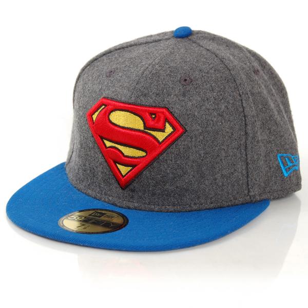New Era Hero Melton Superman Melton Charcolar - 7 1/8