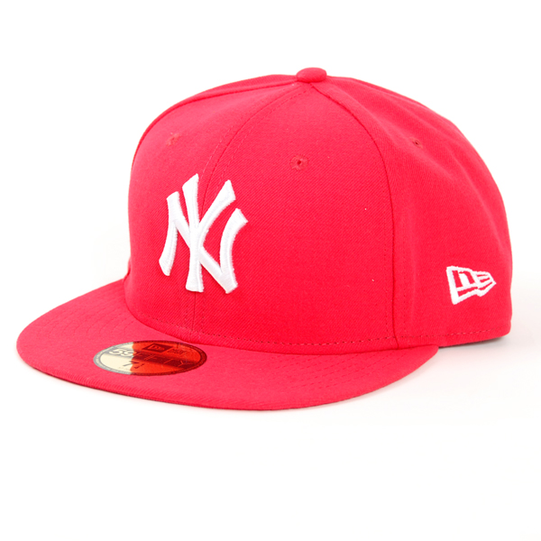 New Era League Basic MLB NY Cap Lava White