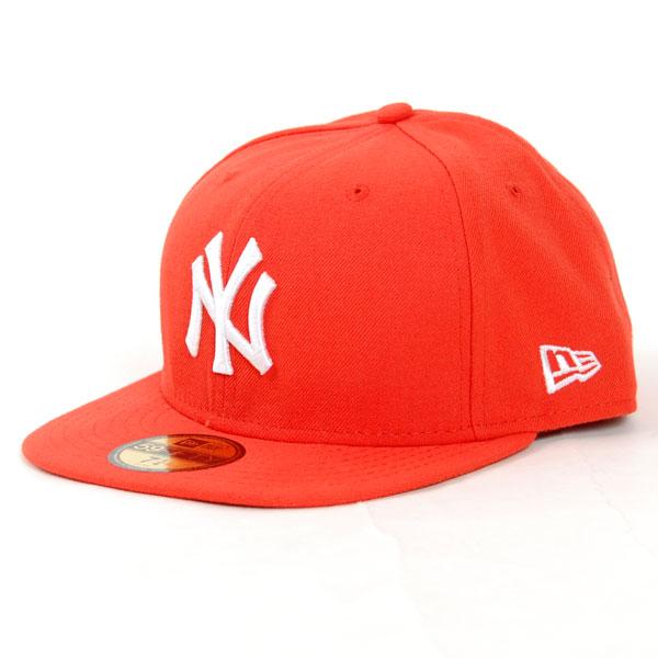 New Era League Basic MLB NY Yankees Orange White - 7 1/2